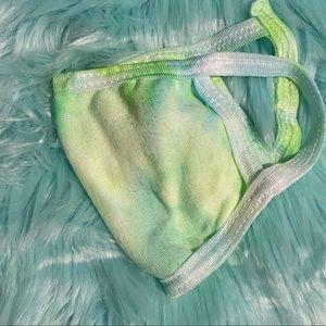 Neon Tie-dye cotton face mask